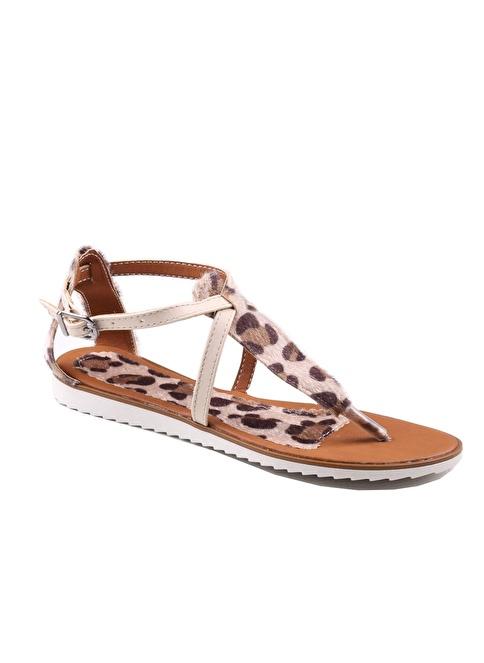 İnce Topuk Sandalet Bej